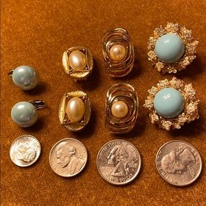 Jewelry - 4 pairs clip on earrings - costume / fashion